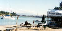 Yachts opo in for famous Boatshed cafe/bar hospitality